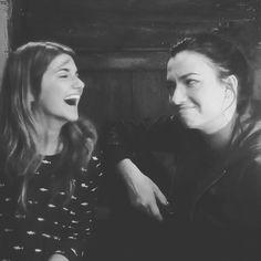 Natlise Negovanman Hollstein Carmilla season zero bloopers Natasha Negovanlis (Carmilla Karnstein) & Elise Bauman (Laura Hollis)