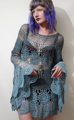 Crochet Lace Dress at CRUX AND CROW...Love the sleeves!