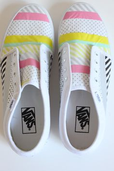 washi tape shoes