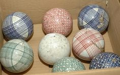 Antique Carpet Balls