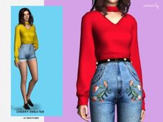 Cherry Sweater by Serenity for The Sims 4
