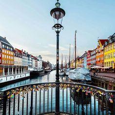 ✴ Nyhavn, Copenhagen, Denmark... Photo from @malthezimakoff