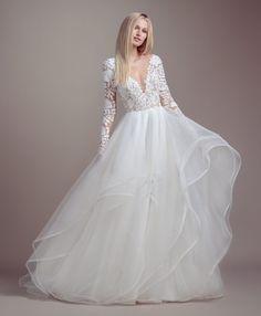 Lace Bodice Long Sleeve Ball Gown Wedding Dress on Kleinfeld Bridal Wedding Dress Tea Length, Wedding Dress Mermaid Lace, Long Sleeve Wedding, Wedding Gowns, Lace Dress, Lace Bodice, Wedding Blush, Wedding Lace, Bridal Gowns