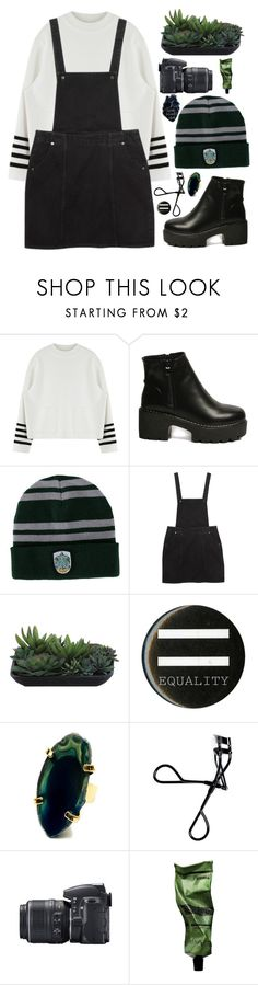 """""""Thousand eyes"""" by misfitfallout ❤ liked on Polyvore featuring Monki, Lux-Art Silks, Bobbi Brown Cosmetics, Nikon and Aesop"""