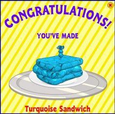 Turquoise Sandwich, New Webkinz Recipes
