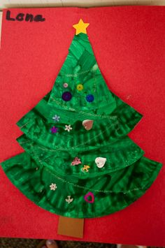 We made these Christmas trees from paper plates. Description from mrsriccaskindergarten.blogspot.com. I searched for this on bing.com/images