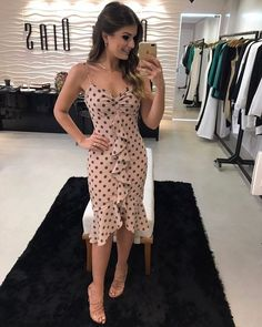 Party Look Outfits Floral Skirts 30 Ideas Sexy Dresses, Cute Dresses, Casual Dresses, Short Dresses, Fashion Dresses, Summer Dresses, Dot Dress, Dress Skirt, Trendy Outfits
