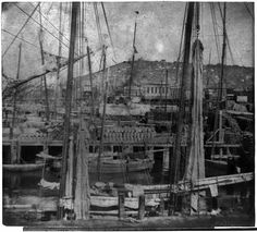 San Francisco, Calif. - Telegraph Hill from Market St. wharf, 1866