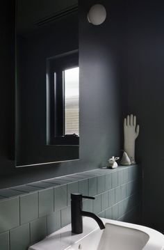 COCOON black bathroom taps inspiration | modern bathroom inspiration bycocoon.com | stainless steel | bathroom design and renovation | minimalist design products for your bathroom and kitchen | villa and hotel projects | Dutch Designer Brand COCOON | Hertford Street House | Clare Cousins Architects Bathroom Inspo, Laundry In Bathroom, Bathroom Design Inspiration, Bathroom Toilets, Bathroom Wall, Washroom, Bathroom Interior, Hotel Bathroom Design, Dark Bathrooms