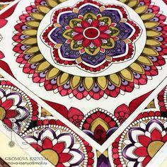496 отметок «Нравится», 11 комментариев — @ksenyagromova в Instagram: «Детали.  #мандала #графика #орнамент #узор #graphic #art #акварель  #mandala #ornament #pattern…»