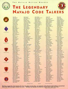 ~ The Legendary Navajo Code Talkers ~
