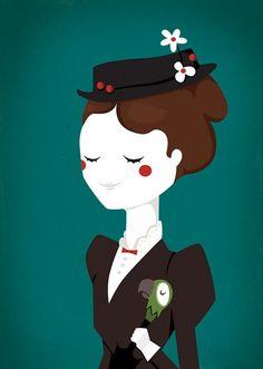 Poster Retrato Mary Poppins