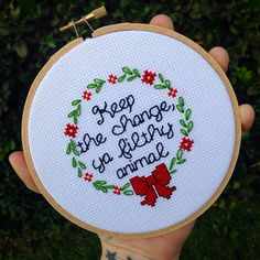 "Home Alone - 5"" Cross Stitch"