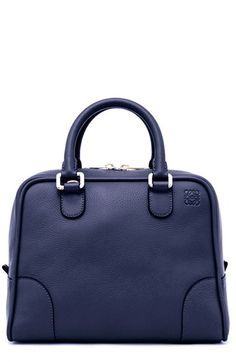 Women's Loewe 'Amazona 75' Leather Satchel - Blue