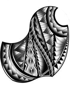 custom Polynesian tattoo Pattern tribal black and grey. samoan Tats