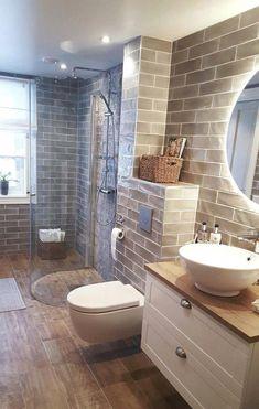 60 Comfortable interior that makes your home look fabulous - stylish .- 60 Comfortable interior that makes your home look fabulous – stylish home accessories – bathroom renovation Modern Bathroom, Small Bathroom, Master Bathroom, Bathroom Sinks, Bathroom Cabinets, Brown Bathroom, Dream Bathrooms, Basement Bathroom, Restroom Cabinets