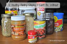 Darcie's Dishes: Frugal Friday: 12 Healthy Pantry Staples I Can't Be Without #thm #healthyliving