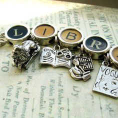 Librarian Bracelet Library Jewelry Book Charm by ALikelyStory, $36.95