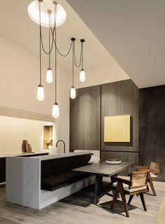 Obumex - An interior to dream about Kitchen Room Design, Modern Kitchen Design, Home Decor Kitchen, Interior Design Kitchen, Interior Decorating, Cheap Bedroom Decor, Cheap Home Decor, Kitchen Dining Living, Kitchen Seating