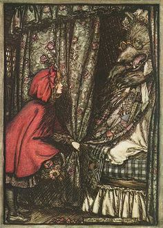 Arthur Rackham Little Red Riding Hood print for sale. Shop for Arthur Rackham Little Red Riding Hood painting and frame at discount price, ships in 24 hours. Arthur Rackham, Charles Perrault, Red Ridding Hood, Kay Nielsen, Brothers Grimm, Grimm Fairy Tales, Fairytale Art, Children's Literature, Red Riding Hood