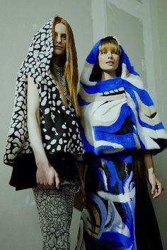 Swirling hoods at Vionnet AW15 PFW. See more here: http://www.dazeddigital.com/fashion/article/23965/1/vionnet-aw15
