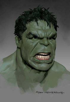 Avengers: Age of Ultron - The Hulk concept art by Ryan Meinerding
