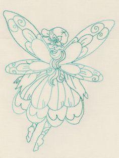 Designs in Stitches - Redwork Fairies