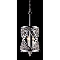 Westmore Lighting 3-Light Crystoria Polished Chrome Crystal Chandelier $382.69 Lowes