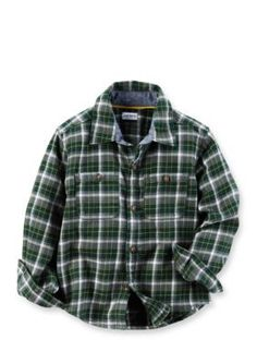 Carters  Toddler Plaid Twill Button-Front Shirt