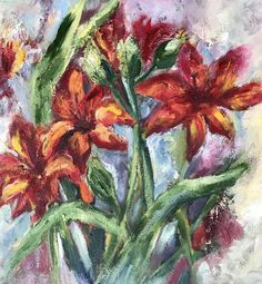 Lilien Oilpainting