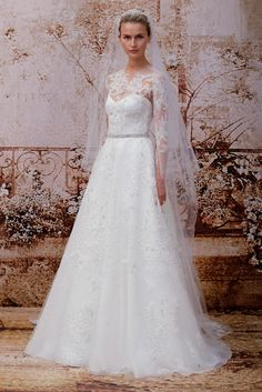 Portait by Monique Lhuillier Long sleeve wedding dress