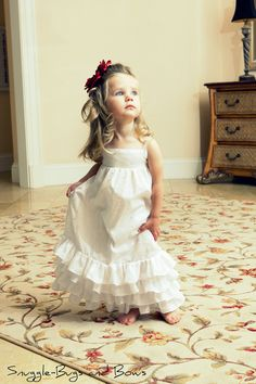 White Eyelet Ruffle Dress. $67.00, via Etsy.