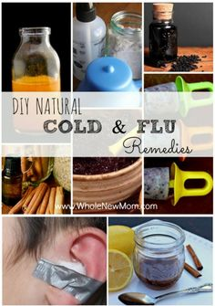 "Got the sniffles or flu? Here are Loads of DIY Natural Cold Remedies and Flu Remedies to help you keep the ""bugs"" at bay and get feeling better fast! Save money and a trip to the store by using what you have in your pantry to get healthier."