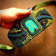 "Tamarchi/ ""Yemaya""   Bead embroidery bracelet  https://www.facebook.com/pages/Tamarchi/100188420078595"