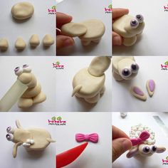 cute fimo sheep tutorial. used to use baking clay a lot as a child :)