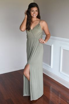 bff5ffc7673 A Little Mischievous Maxi Dress ~ Olive