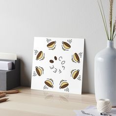 """8 Hour Coffee Clock Work Day"" Art Board Print by Pultzar   Redbubble"