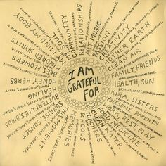 I am grateful for :