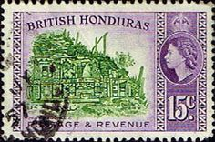 British Honduras 1953 SG 185 Maya Frieze Fine Used SG 185 Scott 150 Other British Commonwealth Empire and Colonial stamps Here