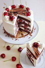 "Kiara`s cakes: Tarta ""Selva negra"" / Black Forest Cake Sweet Desserts, Just Desserts, Sweet Recipes, Cake Recipes, Dessert Recipes, Cake Cookies, Cupcake Cakes, Drip Cakes, Cake Shop"