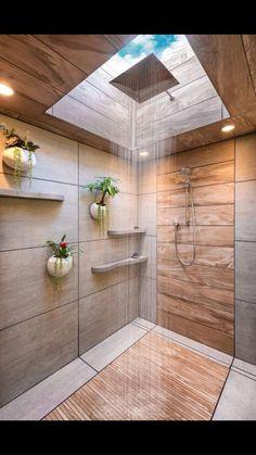 Best Indoor Plants Decor Ideas For Your Luxury Bathroom - Bathroom Inspiration, Interior Design Inspiration, Design Ideas, Spa Design, Menu Design, Interior Ideas, Dream Home Design, House Design, Bathroom Goals