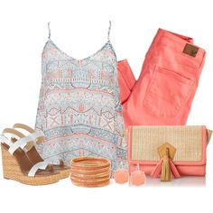 Peach, created by southerngirl-n-michigan on Polyvore