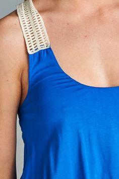 Aubrey Crochet Detail Maxi Dress