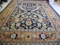 """3rd picture: Persian, 100% wool, Hand-Knotted, in MINT condition Measures 9'3 x 12'7"""" $850"""