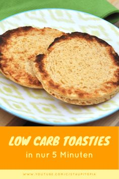 Low Carb Toasties selber machen in nur 5 Minuten. Schnelles Low Carb Brot