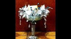 Portavelas navideñas con copas decoradas - YouTube