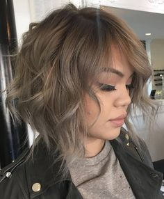 wavy+messy+light+ash+brown+bob