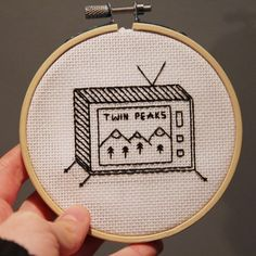 Twin Peaks embroidery