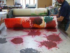 Howard Hodgkins: fabric printing