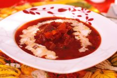 Vege boršč - Powered by Chana Masala, Hummus, Rice, Vegetarian, Ethnic Recipes, Easy, Food, Hoods, Meals